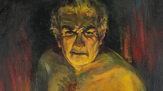 Josef Pierre Nuyttens - Self-Portrait as a Steel Worker (detail)
