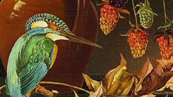 Joseph Fischer - Still Life With Kingfisher, 1940 (detail)
