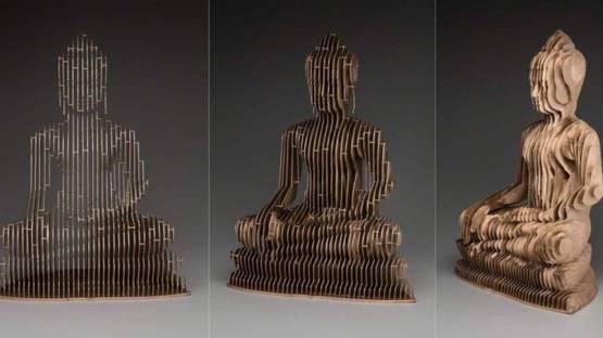 Julian Voss-Andreae - Buddha (detail)