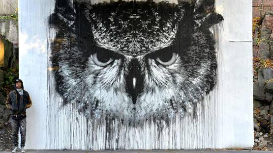Jussi TwoSeven - Bubo, Bubo, Pasila, Helsinki, 2016, photo credits of the artist