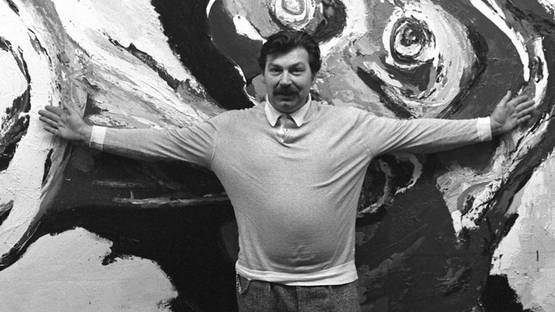 Karel Appel - Photo of the artist - Image via pinterestcom