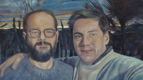 Keith Mayerson - Husbands, Andrew and I - image via David Shelton gallery