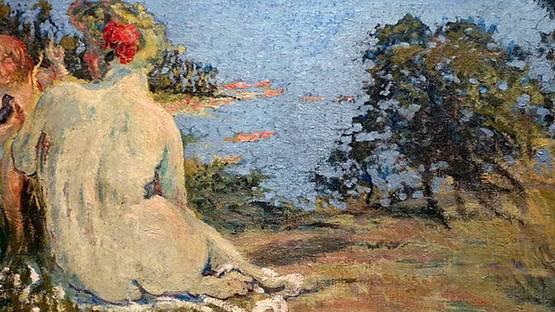 Ker-Xavier Roussel - Vénus et l'Amour au bord de la mer(detail), 1908
