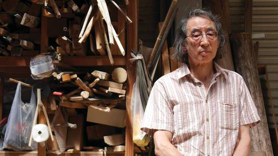 Kishio Suga - in his studio at Ito, photo by John Jervis for ArtAsiaPacific