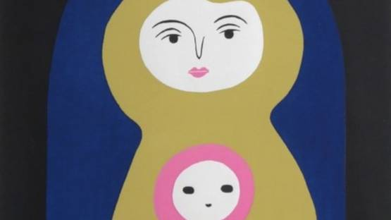 Kiyoshi Nagai - Mother and Baby, ca 1960 (detail)