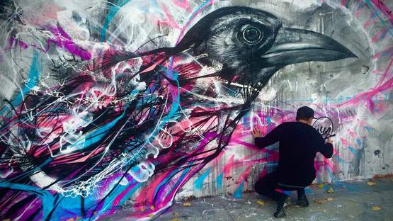 L7M - mural in Barcelona, Spain, 2015, photo credits of the artist