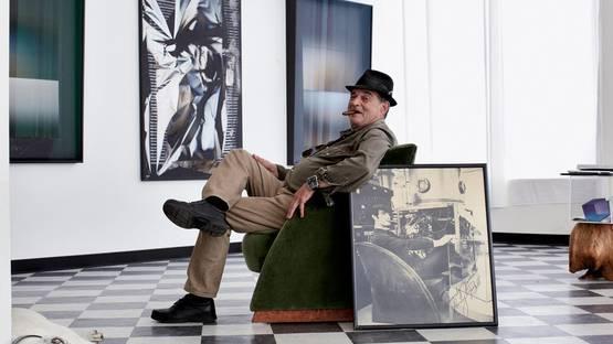 Larry Bell in his Venice Beach Studio