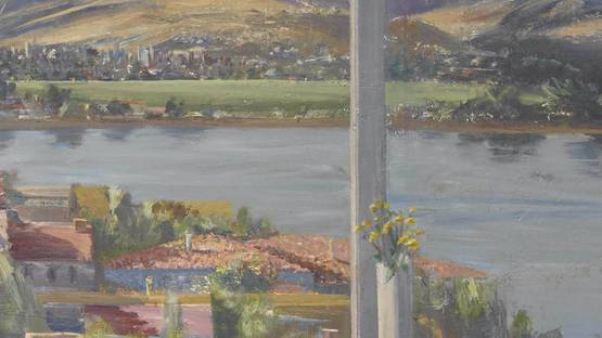 Larry Cohen - View of the Silver Lake Reservoir (detail), 2001 - image via bonhamscom