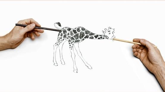 Larry Johnson - Untitled (Giraffe), 2007, photo via davidkordanskygallery com