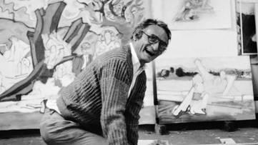 Larry Rivers in His Studio, 1985