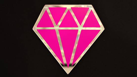 Le Diamantaire - Street Diamond - Rose Fluo, 2021 (detail)