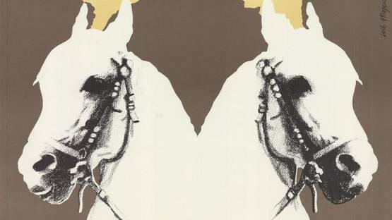 Lech Majewski - Twin Horses, 1975 (detail)
