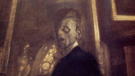Leon Spilliaert - Self-Portrait in Mirror (detail), 1908, photo via Strawberige