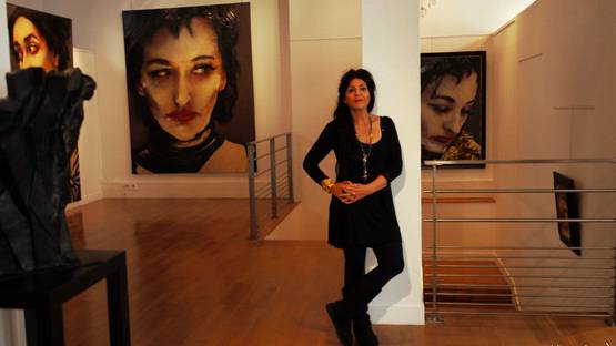 Lita Cabellut,Coco Chanel,Opera Gallery, photo from Une Libanaise a Paris