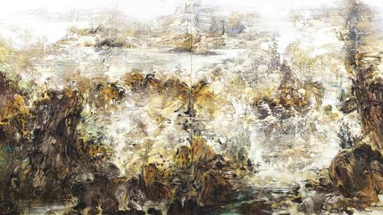 Liu Jiutong - Waves at Land's End - detail