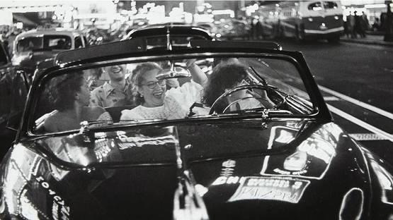 Louis Faurer - Broadway Convertible, NYC (detail), circa 1949, photo via pleasurephotoroom wordpress com