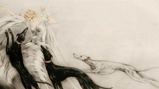 Louis Icart - Coursing II (Detail) - Copyright RoGallery