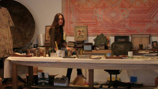 Louise Despont in her studio - photo credits Jeremy Poulin, courtesy of the artist