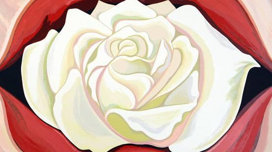 Lowell Nesbitt - White Rose, 1983 (detail)