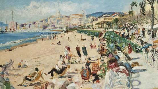 Lucien Adrion - La croisette, Cannes (detail), image via christies com