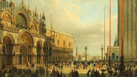 Luigi Querena - Piazza San Marco (detail)