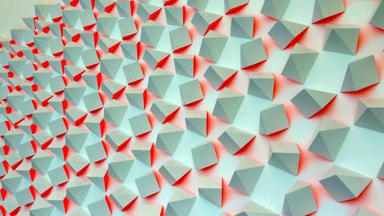 Luis Tomasello - Chromoplastic Mural (detail), 2011, bass wood and acrylic paint, photo credits - Art Plus History