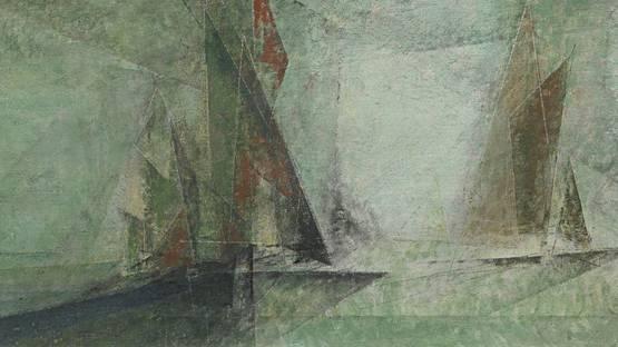 Lyonel Feininger - Sails (detail) - 1954