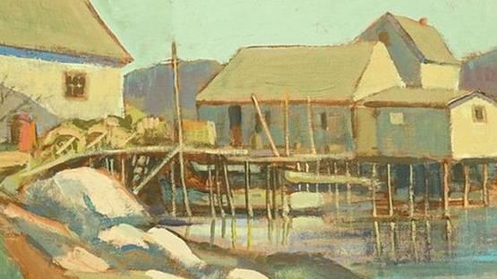 M.P. Mathewson - The House on Stilts (detail)
