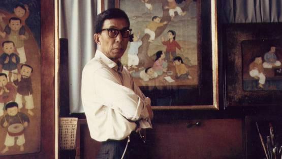 Mai Trung Thu in his studio, 1964, photo via wikiwand