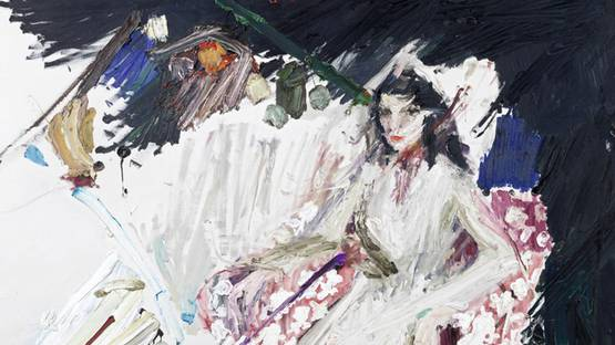 Manoucher Yektai - Portrait of Iris Clert (detail), 1960 - image via via artnews.com