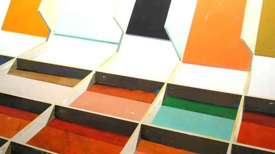 Manuel Caeiro - S-T (detail), 2014, acrylic on canvas - photo via voltashow