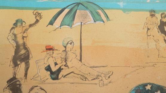Marcia Marx - Beach, ca 1975 (detail)