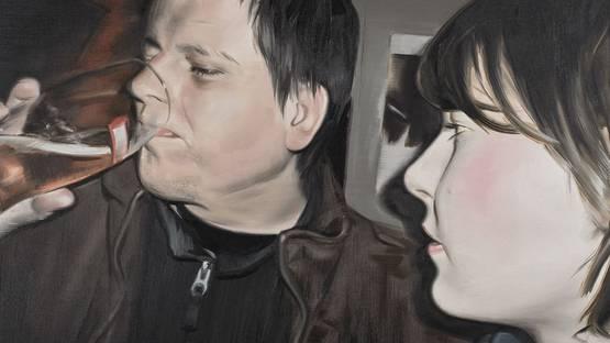 Marcin Maciejowski - I am happy thanks to my wife (Ingres) - detail