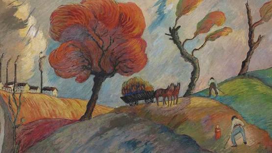 Marianne von Werefkin - Ameisenhaufen (detail), circa 1916 - image via christiescom