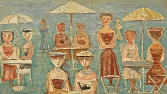 Massimo CAMPIGLI, Garden Party, 1953-1958 (detail)