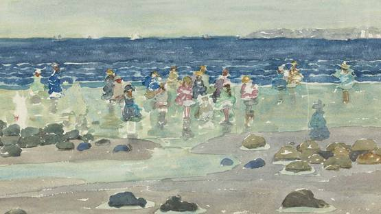 Maurice Brazil Prendergast - Low Tide (detail), photo via wikimedia