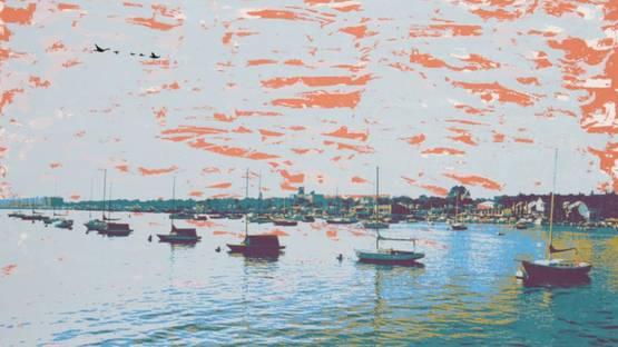 Max Epstein - Anchored Flotilla Days Gone By, 1980 (detail)