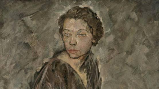 Max Oppenheimer - Portrait of Tilla Durieux, detail
