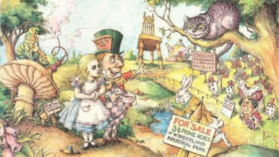 Max Schweber - Alice Buying Wonderland, 1985 (detail)