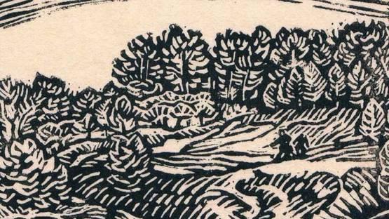 Max Unold - Kleine Landschaft, 1914 (detail)