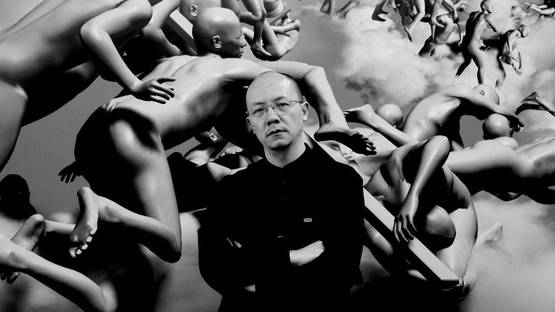 Miao Xiaochun with his Work, photo credits en-cafa-com-cn