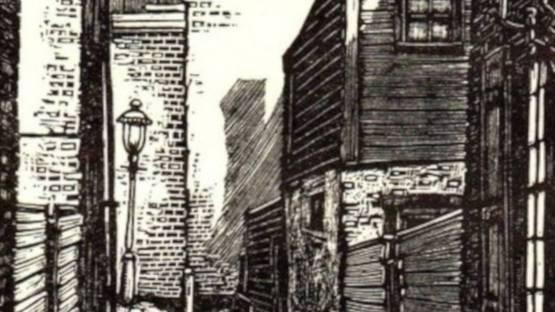 Michael J Gallagher - Bladens Court (Philadelhia), 1938 (detail)