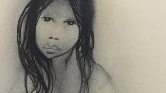 Michelle Michaux - Portrait detail, photo by Live auctioneers