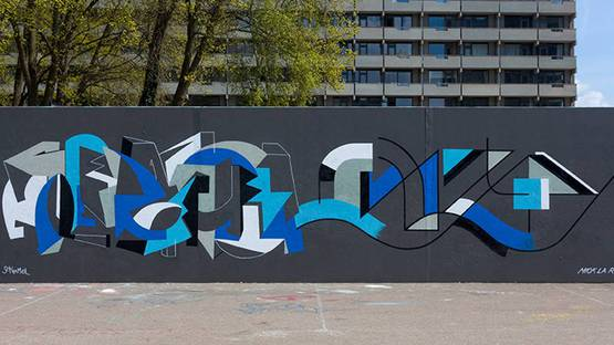 Mick La Rock - A Mural in Amsterdam, 2016- Image courtesy of the artist