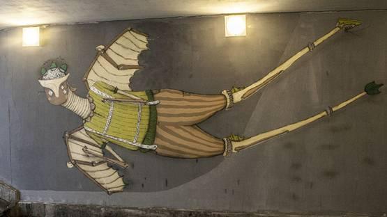 Mikolaj Rejs - mural, photo credits of the artist