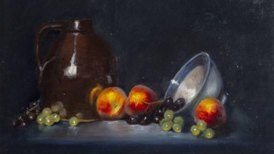 Mireille Duchesne - Peaches and Grapes, ca 2000 (detail)