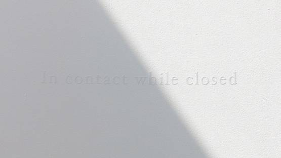 Morgane Tschiember - In contact while closed, 2018