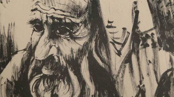 Moshe Gat - Seated Man, ca 1970 (detail)
