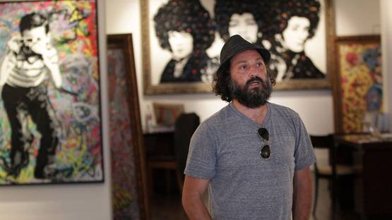 Mr. Brainwash - portrait, photo credits Peter Macdiarmid - Getty Images