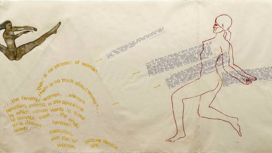 Nancy Spero - Untitled (detail), Image via rachel-and-yoga.blogspot.com